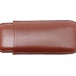 Cigar case brown leather simple